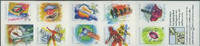 Aus SG2089b Australian Rock and Pop Music self-adhesive booklet pane (SB142)